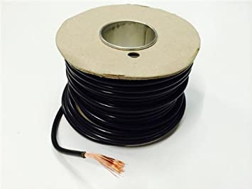 35Amp Black Electrical Cable For House Diy Loom Flex Repair Single Core 5M
