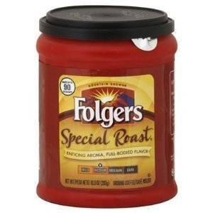 Fresh Taste of Folgers Coffee, Special Roast Enticing Aroma, Full-Bodied Flavor Ground Coffee, Medium Flavor, 10.3 Oz Canister - (1 pk)