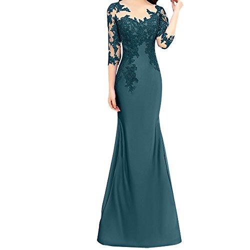 Etuikleider Festlichkleider Langarm Blau Trumpet Tinte Spitze Damen Rot Charmant Meerjungfrau Abendkleider Yw0141