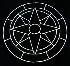Universal Templates UT-21 Compass Star Decorative Concrete Stencils ...