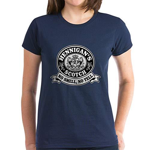 CafePress Hennigans Scotch Logo Women's Dark T Shirt Womens Cotton T-Shirt Navy
