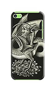 LarryToliver iphone Case, Escher Background image The pattern (iphone 5c) #3