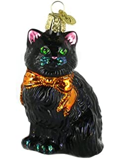 old world christmas ornaments halloween kitty glass blown ornaments for christmas tree - Black Cat Christmas Tree