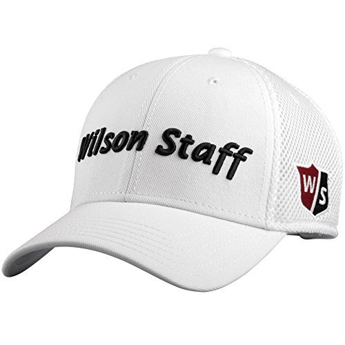 Wilson Tour Hat (2015 Wilson Staff Mesh Golf Hat Adjustable Structured Baseball Cap-)