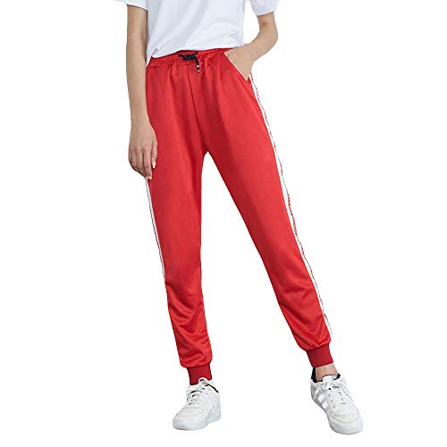(Ladies Trousers Hot Sale,DEATU Womens Mid-Waist Casual Striped Multi-choice Jogger Sports Pants Harem Pants)