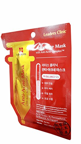 4 Mask Sheets of Leaders Clinic Anti-Acne Mask with Anti-...
