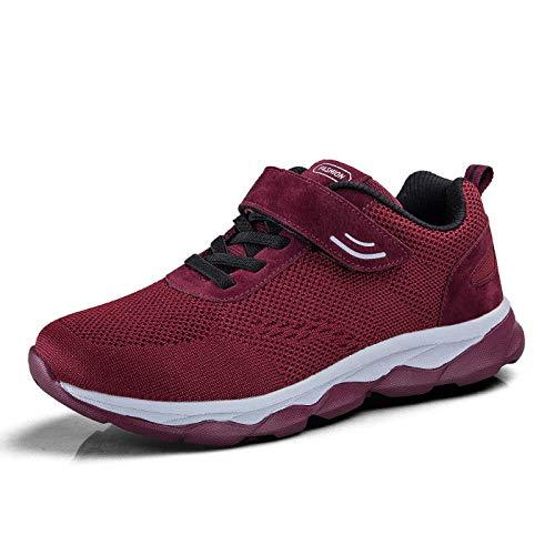 confortevole scarpe donna coppia media rosso a di sfondo scivola paio sportivo metà autunno madre Qlx piedi signore età 8zwFxEq8