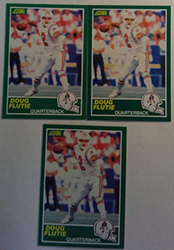 - Score 1989 Doug Flutie Patriots Quarterback NFL Football Cards # 2 Lot of 3