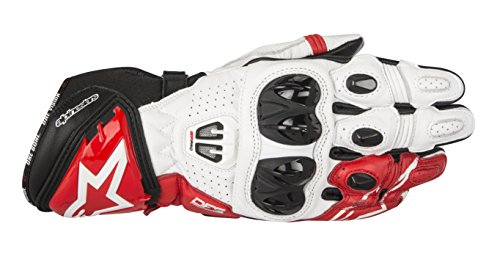 Alpinestars Men's GP Pro R2 Leather Glove (Black/White/Red, Large)
