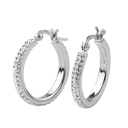 crystal hoop earrings - 8