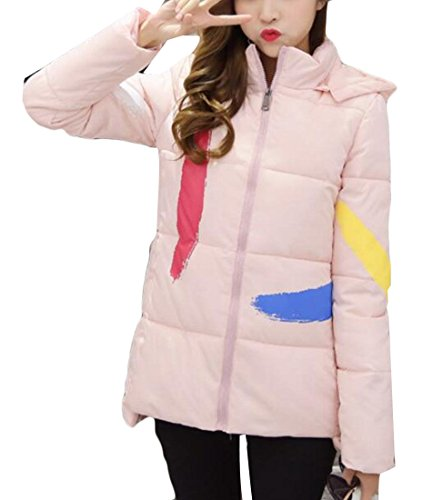 amp;W amp;S 2 Women's Padded Print Down Thick M Winter Jackets Puffer CPw5dgq