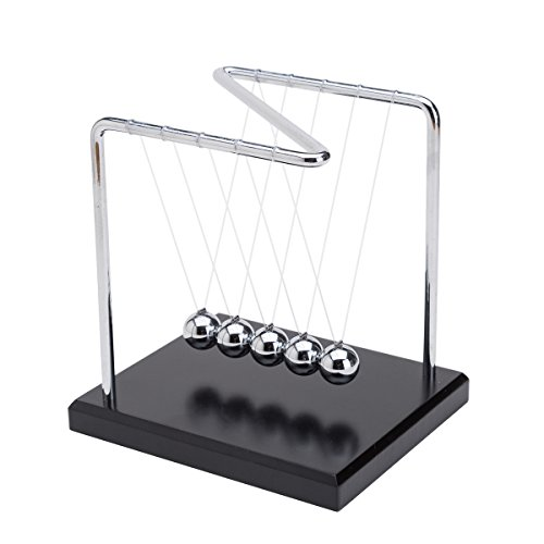 THY COLLECTIBLES Unique Z-Shape Wooden Base Newtons Cradle B