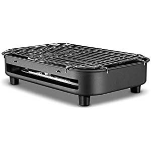 BHDYHM Countertop Turbo, Rotisserie Roaster Cooker with Grill, Griddle Top Rack, Dual Hot Plates, Baking Tray, Skewers and Handles