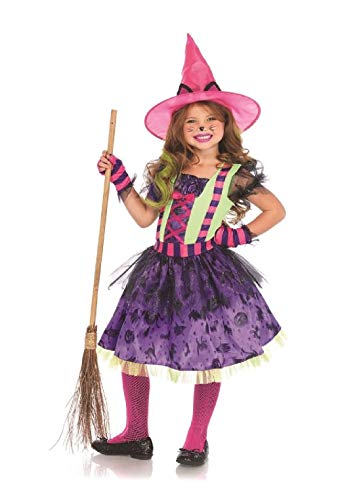 Colorful Cat Witch Child Costume Halloween -