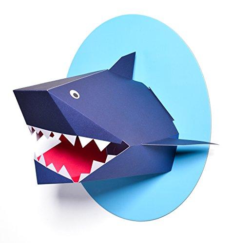 Nursery Works Oceanography Wall Decor, Xander The Shark Paper Bust