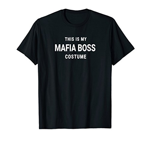 This Is My Mafia Boss Costume Decades Party Shirt Halloween -