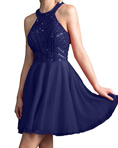 Kleider Damen Abendkleider Steine Navy Rosa Mini Jugendweihe Partykleider Charmant Kurzes Cocktailkleider Blau Tanzenkleider AYqIdEPwP
