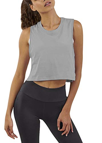 Mippo-Womens-Crop-Top-Workout-Shirts-Loose-Flowy-Muscle-Tank-Athletic-Crop-Tank-Top