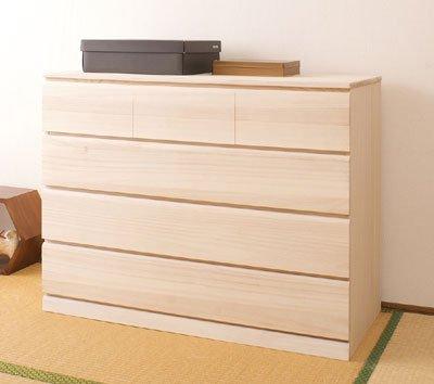 桐クローゼット 幅100cm 4段 桐天然木 日本製 HI-0020 B002USIAT8