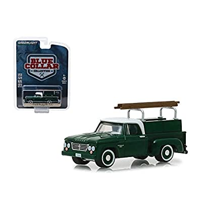 M&J New Diecast Toys Car Greenlight 1: 64 Blue Collar Collection Series 5-1963 Dodge D-100 with Ladder Rack (Green) 35120-B: Toys & Games