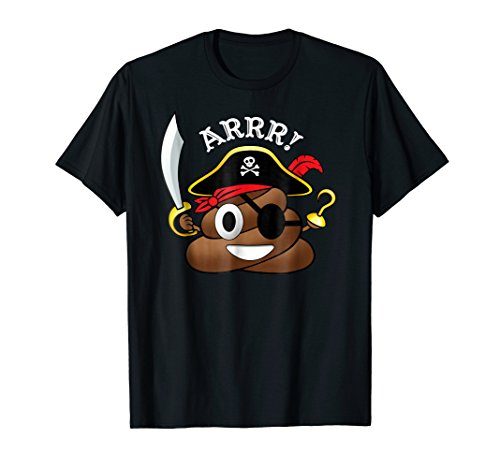 Pirate Poop Emoji T-Shirt Funny Halloween Costume -
