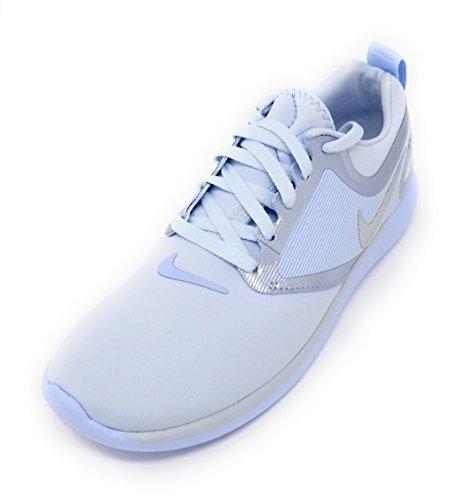 Nike Lunarsolo Grade School Blue Tint/Metallic Sneaker (4 Big Kid M)