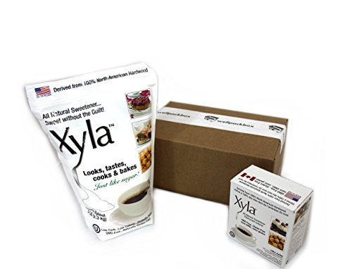 xyla-xylitol-100-birch-sweetener-5-pound-and-xyla-dining-packets-100-count-4g-bundle