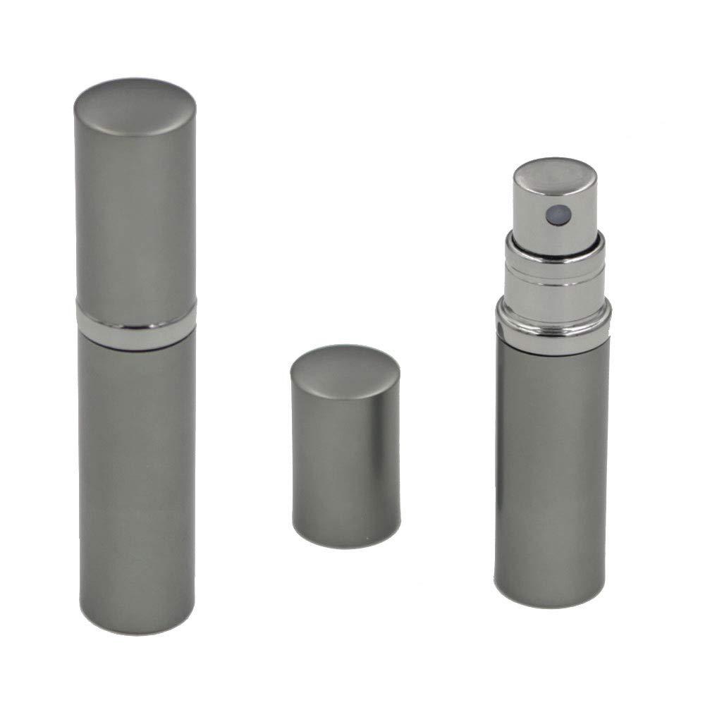Sixtmoon Perfume Bottles for Women & Men, Leaking Proof Perfume Atomizer, Empty, Refillable & Portable, TSA-Approved, 5 ml - Silver