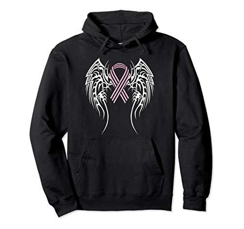(Breast Cancer Ribbon Hoodie Tribal Wings Hope Sweatshirt)