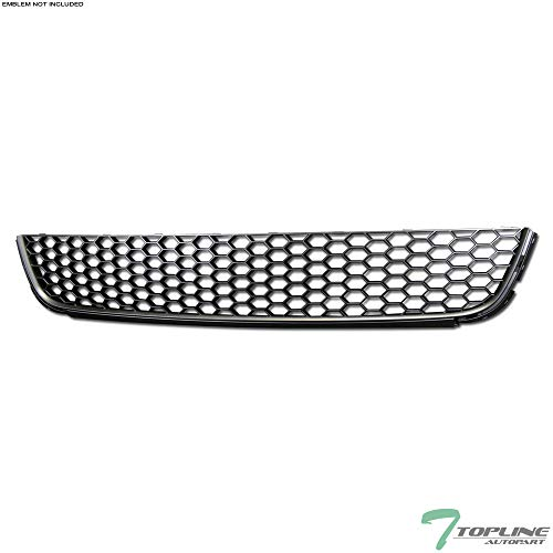 (Topline Autopart Black Honeycomb Mesh Front Lower Bumper Grill Grille ABS For 10-13 Volkswagen Golf / 10-14 Jetta SportWagen MK6)