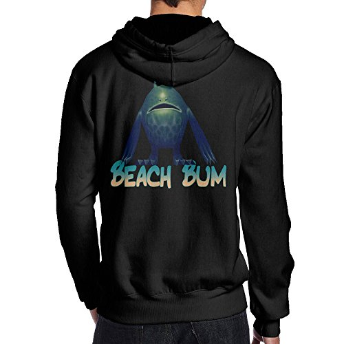 [SBPZEB Beach Bum Jersey Men's Hoodie L Black] (Bum Shorts Costume)
