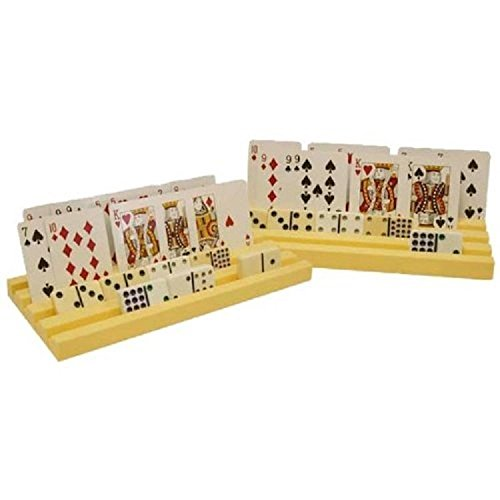 2pk Plastic Domino Playing Card Racks Holders Stand Mexican Train Chicken Foot