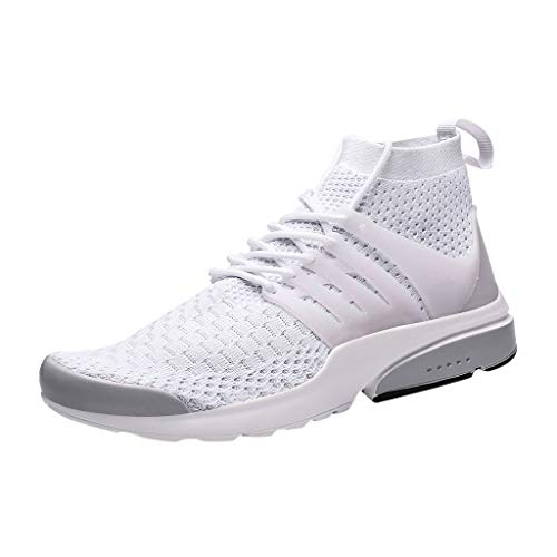 Sturrly Men's Large Size Sneakers Mesh Ultra Lightweight Breathable Athletic Running Walking Casual Shoes White ()