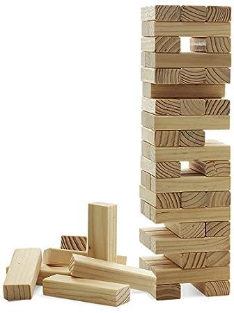 Juego Jenga Torre Tambaleante Con Piezas De Madera I Habilidad