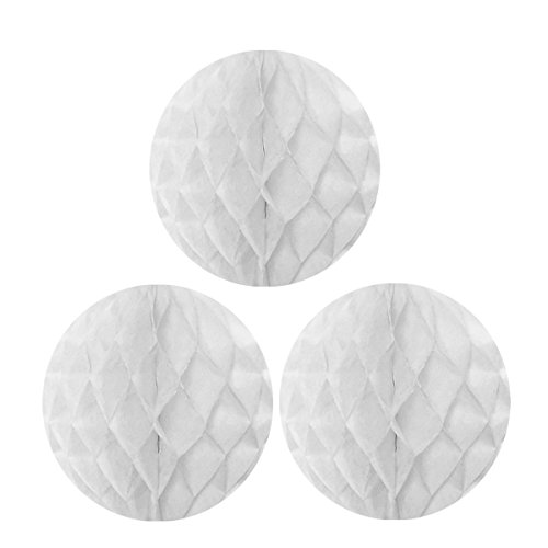 Wrapables Tissue Honeycomb Ball Party Decorations for Weddings, Birthday Parties, Baby Showers and Nursery Decor (Set of 3), 10