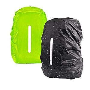 Overmont Cubierta Impermeable Protector de Lluvia de Mochila con Cinta Reflectante para el Aire Libre Escalada Negro//Naranja Paseos a Caballo Viajes