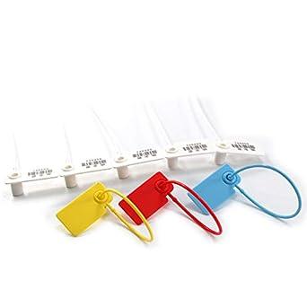 Leadseals(R) - 100 etiquetas de plástico numeradas para equipaje ...