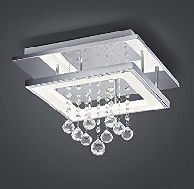 WSMY Crystal Chandeliers Light, LED Chic Style Modern Décor Flush Mount Ceiling Lamp Fixture For Hallway, Bar, Kitchen, Office, Kids / Study Room, Dining / Living Room, Bedroom
