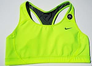 Nike DRI-FIT Yellow Bra Running High Lift Support 622076-702 Volt Medium