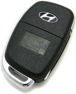 QualityKeylessPlus New Uncut High Security Flip Key Remote Compatible Replacements for Hyundai FCC ID TQ8-RKE-3F04 Free KEYTAG