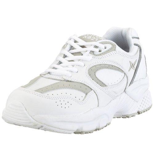 Apex Women's Lace Walker-X-Last Sneaker, White, 8 Wide US