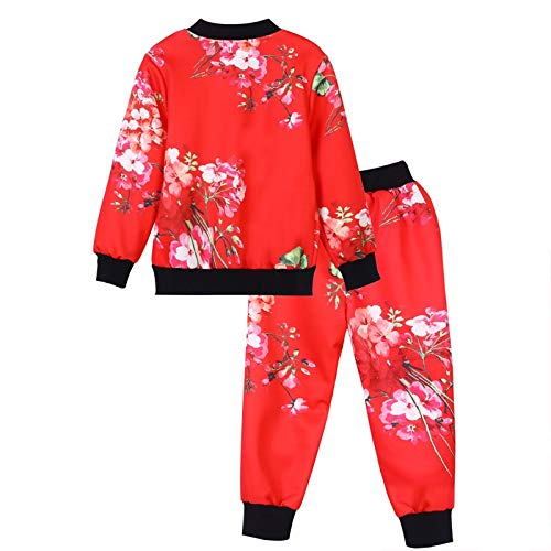 SMALLE ◕‿◕ Clearance,Kids Baby Girls Boys Clothes Set Floral Print Zipper Tops Coat Pants Outfits by SMALLE (Image #2)