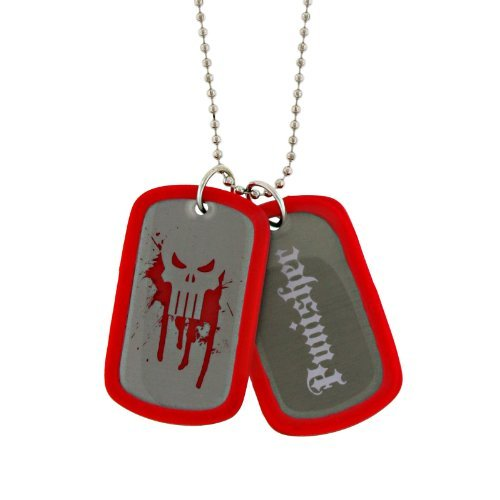 Dog Plated Cufflinks - Jewel M The Punisher Double-Sided Dog Tag