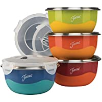 8-Piece Fiesta 9378S8FBR Microwave Safe Prep Bowl Set 75 Qt