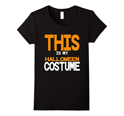 [Womens Funny Halloween Costume for Dad Men Mom Sarcastic Homemade Large Black] (Homemade Funny Costumes For Women)