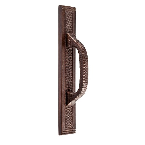 (The Copper Factory CF113AN Solid Cast Copper Rectangular Backplate for 3-Inch Center Pulls, Antique Copper)