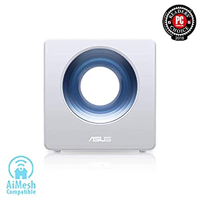 Asus Blue Cave AC2600 Dual-Band Wireless Router for Smart Homes, Featuring Intel WiFi Technology and AiProtection Network securi