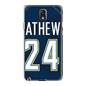 Shock Absorption Hard Phone Cases For Samsung Galaxy Note 3 With Provide Private Custom Lifelike San Diego Chargers Skin WandaDicks