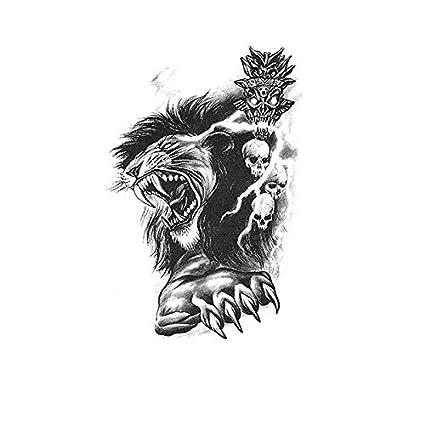 HXMAN Thai Tótem Tigre Lobo Tatuaje Pegatina Impermeable ...