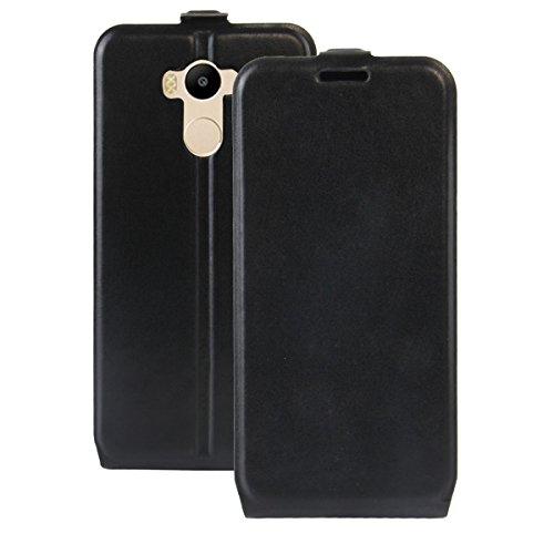 Para Xiaomi Redmi 4 High Edition Caso compacto de piel PU, arriba-abajo piel abierta PU Funda de piel con ranura para tarjeta y función de protección completa con cierre magnético Caja a prueba de gol Negro